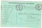 REF LBR 31 - CARTE POSTALE EN FRANCHISE MILITAIRE PARIS POUR VILLE 13/12/1914 - Postmark Collection (Covers)