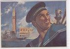 CARD REGIA SCUOLA MECCANICI VENEZIA  MARINAIO VENEZIA INCROCIATORE FIRMATA BARTOLI   -FG-V-2- 0882-11873-872 - Guerra 1939-45