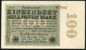 Pick 107d - Ro 106l - 100 Million Mark 1923 UNC N° 017002 - 100 Millionen Mark