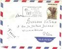 REF LBR 31 - COTE D'IVOIRE LETTRE AVION ABIDJAN / VILLEURBANNE JUIN 1962 FLAMME PUBLICITAIRE FAUNE PUB ELEPHANT - Côte D'Ivoire (1960-...)