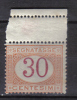 SS6249 - REGNO 1890 , Segnatasse 30  Cent  N. 23  ***  MNH - 1878-00 Humberto I