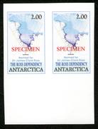 Antarctica Post Imperforate Specimen Pair - Stamps