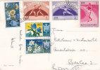 ST.MARIN : Affranchissement Sur Carte Postale Oblitérée Le 27.8.1955 - Lettres & Documents