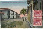 Corinto  Comandancia  Armas Del Puerto Cisneros Foto Leon Circulada 1925 3 Stamps Sweden - Nicaragua