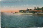 Corinto  Entrada De Vapores Al Puerto Cisneros Foto Leon Circulada 1922 3 Stamps Sweden - Nicaragua