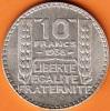 PIECE MONNAIE 10 FRANCS 1938  - GRAVEUR TURIN  - ARGENT  - 3ième REPUBLIQUE 1871 - 1940 VOIR LES SCANS... - France