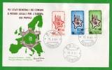 """18678   Italia,  F.D.C. 15.X.64,  Roma,  VII Stati Generali Dei Comuni  E Poteri Locali Per L""""Europa Dei  Popoli, - Affrancature Meccaniche Rosse (EMA)"""