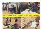 République De Côte D'Ivoire. Treicheville. Fabrication Des Pagnes. Mosaïque - Côte-d'Ivoire
