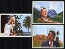 Rep. Gabon ** Bloc N° 74 à 76 - Cent. Du Prix Nobel (H. Hesse, A. Schweitzer, N.Mandela) - Gabon (1960-...)