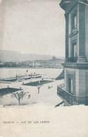 GENEVE. - Vue Du Lac Léman. Pionnière Et Publicité Maison A. BENOISTON, Rue Du Temble Paris, Au Dos. - GE Geneva