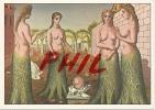 """Paul Delvaux """"La Naissance Du Jour"""" - Ref 1108-906/07 - Paintings"""