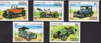 Cambodia - Opel-Mercedes-Ford-Rolls Royce-Hutton  - 5v Set - Coches