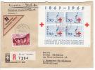 1963 Block 100 Jahre Rotes Kreuz Auf Nachnahme R-Brief Bern Nach Hannover Deutschland (f45) - Blocchi & Foglietti