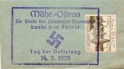 """Bohmen Und Mahren 1939, Mahr. Ostrau """" Die Stadt Der Schwarzen Diamanten Dankt Dem Fuhrer"""" - Covers & Documents"""