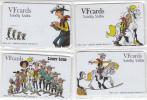 GREECE - Lucky  Luke, Set Of 4 VF Promotion Prepaid Cards, Tirage 50, Mint - Comics