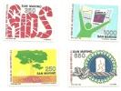 1988 - San Marino 1236/39 Convegno Internazionale AIDS - Malattie