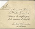 59 - LILLE - Faire Part De Naissance Suzanne Wattier-Grenier - 1894 - Lith. Willmot Lille - Announcements
