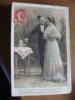 Vieux Carte De 1908, Dans La Coupe En Cristal La Mousse D'or Petite, Et Déja Dans Vos Yeux Une Flamme Scintille - Fêtes - Voeux