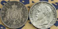 FRANCE 2 FRANCS EMBLEM FRONT MAN NAPOLEON III BACK 1866 BB AG SILVER KM807.2 READ DESCRIPTION CAREFULLY !!! - I. 2 Francs