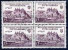 YUGOSLAVIA 1952 JUFIZ I Exhibition Block Of 4 Used.  Michel 707 - 1945-1992 Socialist Federal Republic Of Yugoslavia