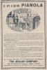 """Pub De 1913 """" PIANOLA De THE AEOLIAN COMPAGNY."""" Le Piano Mécanique. - Publicités"""