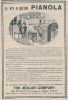 "Pub De 1913 "" PIANOLA De THE AEOLIAN COMPAGNY."" Le Piano Mécanique. - Advertising"