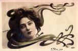 ART NOUVEAU : UNE VEDETTE D'AUTREFOIS... - CARTE ´VRAIE PHOTO´ : REUTLINGER - ANNÉE: ENV. 1900 (i-626) - Non Classés