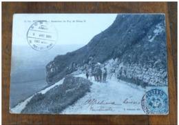 """Ascension Du Puy De Dôme II En 1905  ESTAMPILLE """"SOMMET"""" - Auvergne"""