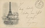 PARIS. LA TOUR EIFFEL. CARTE POSTALE DE 1900 - Tour Eiffel