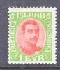 Iceland  108   * - Unused Stamps