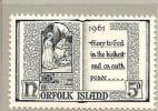 NorI Mi.nr. 44/ (1961) Weihnachten ** - Norfolkinsel