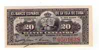Cuba   20 centavos 1897,  UNC, Pick 53