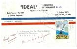 REF LBR31 / D - EQUATEUR LETTRE AVION QUITO / PARIS - Equateur