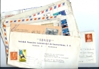"""REF LBR31 / D - ESPAGNE 15 LETTRES - DONT 1 AU TARIF """"URGENTE"""" POUR PARIS - ET 2 CP MODERNES - Unclassified"""