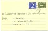 REF LBR31 / D - PAYS BAS - EP CP DE CHANGEMENT D'ADRESSE - Postal Stationery