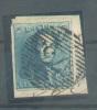 N°2 - Epaulette 20 Centimes Bleu, Bien Margé Et Sur Fragment, Obl. P.73 LIEGE - 6999 - 1849 Epaulettes