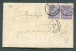 N°48(2) - 25 C. (paire) Obl. Sc GILLY S/L. Du 1 Aout 1885 Vers Bohain. - 7005 - 1884-1891 Léopold II