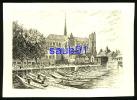 Amiens -  Le Marché Sur L'eau - Gravure -       Réf : 17132 - Amiens