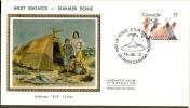 Canada 1979 Inuit Eskimos Artists Antartica Summer Home Tent Painting Sc 835 Colorano Silk Cover # 13179 - Polar Philately