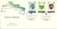 ENVELOPPE AVEC CACHET FDC - Turks & Caicos (I. Turques Et Caïques)