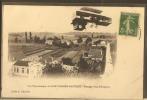 SAINT GIRONS-GAUTRET --vue Panoramique--passage D'un Aéroplane---peu Courante - Saint Girons