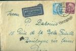 LETTRE ALLEMAGNE REICH 1941 - BANDE DE CONTROLE ET GRIFFES DE LA WEHRMACHT - CACHET AMBULANT METZ A PARIS - - 2. Weltkrieg