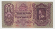 Hungary 100 Pengo 1930 AXF P 98 - Hongrie
