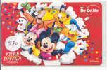 PHONECARD Télécarte Prépayée Recharge Tel Portable Japon DISNEY * 570 *  Mickey Minnie Donald - Japan Docomo - Disney