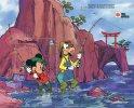 The Gambia 1991 Mickey & Goofy Enjoy Angle Fishing In Japan.MNH**.Pecher.Fishing.Vissen.Dingo.Disney.Phila Nippon. - Disney