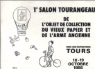 Carte Postale 1er Salon Vieux Papiers Tours 1986 - Bourses & Salons De Collections