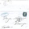 REF LPU10/2 - NAPOLEON III ND TYPE I 20c OBL. CERCLE DE POINTS PARIS / ORANGE 17/3/1860 - 1853-1860 Napoléon III