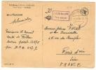 REF LPU10/2 - ZOF - TAXE PERCUE SUR CPA DE PROPAGANDE FALKAU / PARIS 13/6/1948 - French Zone