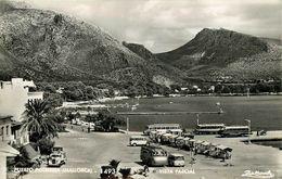 Espagne - Spain - Espana - Islas Baleares - Mallorca - Puerto Pollensa - Vista Parcial - Autobus - Camions - état - Mallorca