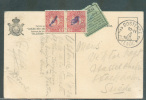 C.V. Non Affranchie D´OOSTENDE 2 Le 3-IX-1920 Vers La Suède Et Taxée à 20 öre + Vignette Verte De Taxe. - 7027 - Postage Due